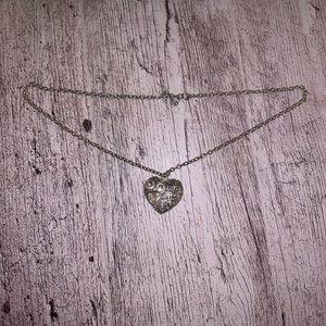 Forever 21 Silver Heart Pendant Necklace